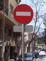 señal de prohibido
